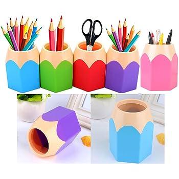 NUOLUX Large Pencil Cup Makeup Brush Vase Creative Pen Holder Desk Tidy Pink