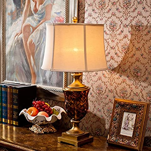 YUENLONG Resina de país continental americano cristal leopardo forjado hierro lámpara de noche salón decoración lámpara altura 73 cm * anchura 33cm