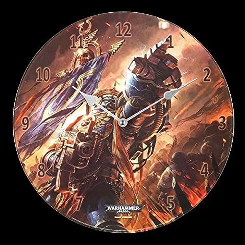 Glas Wanduhr Warhammer - Ultramarines - Deko Figuren Uhr Games Workshop 40.000 (Warhammer 40k Figuren)