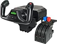 Logitech G Saitek PRO Flight Yoke System, Professional Simulation Yoke and Throttle Quadrant, 3 Modes, 75 Programmable Contr