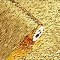 Papel Tapiz 3D Papel Tapiz De Oro Resistente Al Agua Papel Tapiz Mosaico 53 Cm X 10 M Oro Plata KTV Barra De Bar Pilar Enrejado Papel De Papel Tapiz De Papel Dorado,Gold