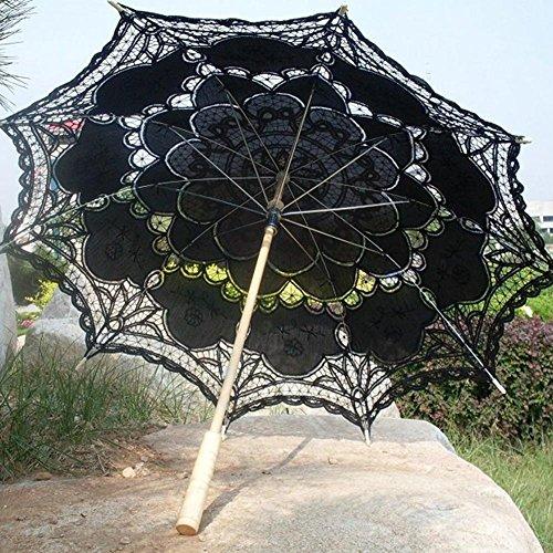 Todaytop Sombrillas de Encaje Mujeres de Boda Paraguas de Sol para Niñas Estilo Princesa Sombrillas de Decoración para Fiesta Fotografía
