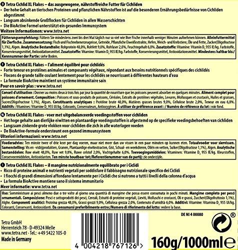 Tetra Cichlid XL-Flakes (Hauptfutter für alle größeren Cichliden), 1 Liter Dose - 2