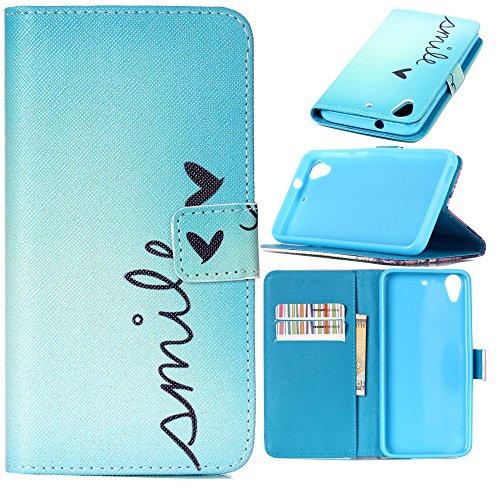 dooki, étui à rabat en cuir PU avec fente pour carte crédit Coque pour HTC Desire 626626S D626x 626G + avec bracelet