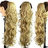 Dame Perücke, YongDai Frau Mode Clip-in Frauen Braun Lange Lockige Schwanz Haar Gefälschte Synthetische Horsetail Haarverlängerungen Perücke Zubehör (D)