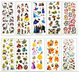 #8: Oytra Mini Cartoon Puff Stickers | Pack of 10 Sheets | Used in Gift Cards / Scrapbooking / Invitations / School Projects and More | Birthday Return Gifts in bulk (Assorted)