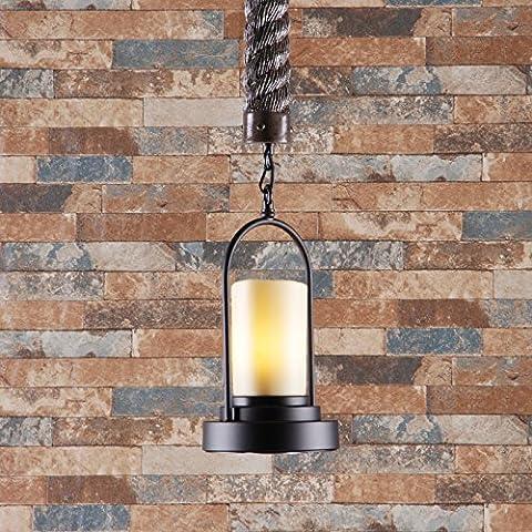 ZQ@QXDesign moderno elegante cucina soggiorno lampadario pranzo Ciondolo pietra finto ferro 17 * 70cm