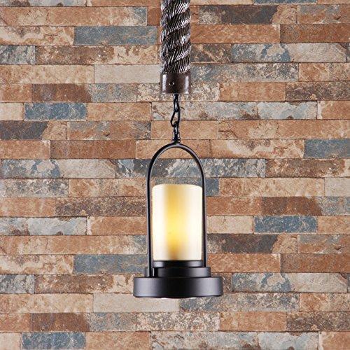 WYMBS Luce del pendente decorazione mobili Ciondolo pietra finto ferro 17 * 70cm