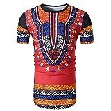 FRAUIT Sommer Herren Tees Hemd Lässige Afrikanische Print O Neck T-Shirt Luxus Atmungsaktiv Weich Bequem Mode Elegant Wunderschön Persönlichkeit Streetwear