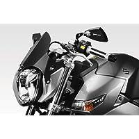 Noir Cikuso Clip R/éGlable sur Le D/éFlecteur de Vent Spoiler Extension Pare-Brise pour Moto