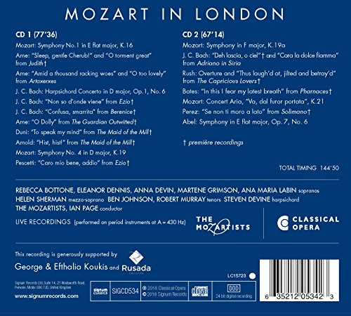 Mozart in London [Import allemand]
