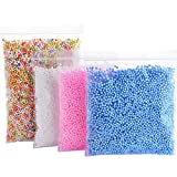 #3: Tomtopp 30000pcs Mini Foam Balls Homemade Slime DIY Crafts Supplies Kid Party Decor (Color white blue pink)