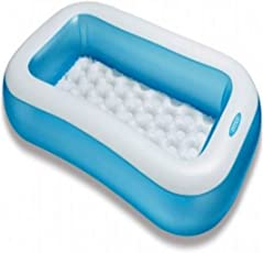 Aarushi (with device) Intex Inflatable Plastic Rectangular Pool, 1-2 Years (Multicolour)