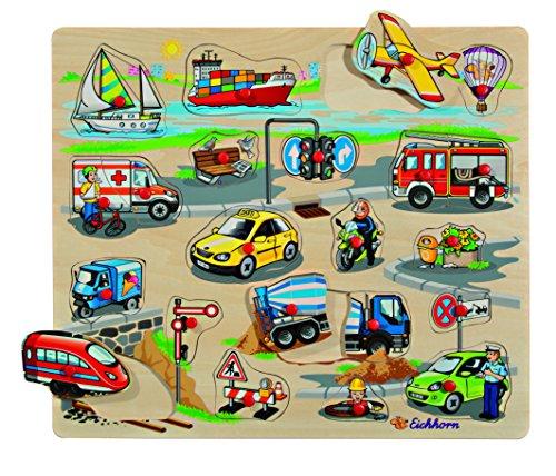 HEROS 100005454 - Eichhorn, Steckpuzzle, 40 x 35 cm, Sortiert
