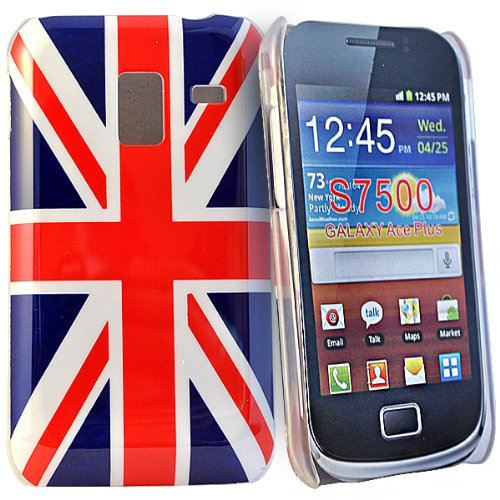 Phonedirectonline-cover rigida con motivo union jack, per Samsung galaxy ace S7500