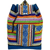 PINZON ESCOLAR Bolso Grande Estilo Hippie con Lazo Azteca Colorido de Tela de Lona de Paño