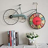 COCO American Style Retro Soggiorno Camera da letto creativi biciclette decorazione della parete Orologio da parete di personalità Orologi decorazione e orologi sulla decorazione della parete Decorazioni da parete HOME