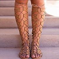 2021 Sandales Femmes Plates Confortables Été Plage Sexy Cuir Gladiateur Romaines Ethniques Chaussures Casual Spartiate…