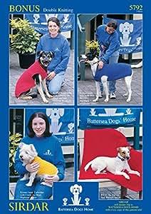 Sirdar Bonus DK Dog Blankets Coats Knitting Pattern 5792