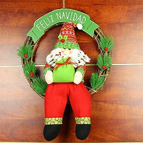 Ornamenti di Natale Santa ornamento decorazione della porta corona di Natale decorazione decorazioni di Natale di regalo di Natale