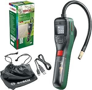 Bosch Electric Air Pump Mini Compressor Easypump 3 0 Ah Battery 3 6 Volt Autostop Function 150 Psi 10 3 Bar Led Rechargeable Using Usb C In Box Auto