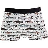 ZZKKO Sea Fish Mens Boxer Briefs Underwear Breathable Stretch Boxer Trunk with Pouch S-XL