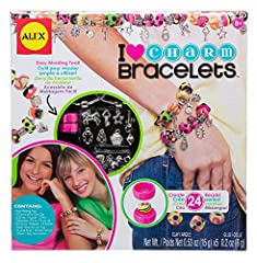 Idea Regalo - Alex 736L-5 Crea Bracciali Ciondoli e Perle per Bambini, Multicolore
