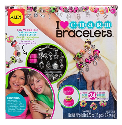 Alex- I Heart Charm Kit para Hacer Brazaletes con Charms, Multicolor (736L)