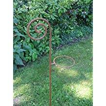 18 x 1500 mm gr/ün pulverbeschichtet mit Spezialkappe und spitzem Bodenst/ück Gartenstab Zaunpfosten