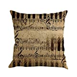 Yvelands Musiknote Malerei Leinen Kissenbezug Dekokissen Fall Sofa Home Decor
