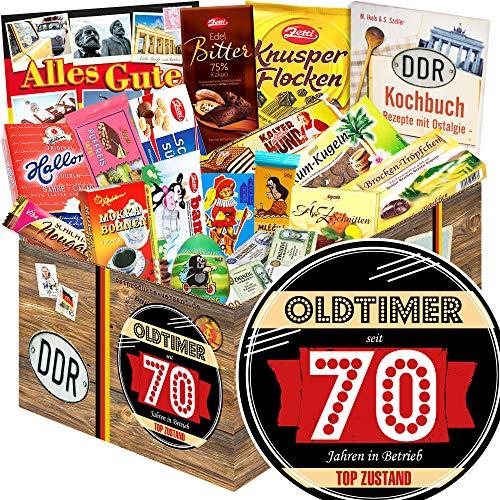 Oldtimer 70 + Geschenke zum 70 Geburtstag + Nostalgieset Schokolade