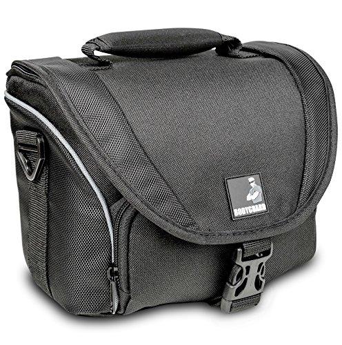 Fototasche Bodyguard SLR M für Body u. 2 Objektive für Nikon D800 D3200 D3300 D5100 D5200 D5300 D5500 D7000 D7100 D7200 Canon EOS 1200D 1300D 700D 750D 760D (Tasche D5100 Nikon)