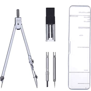 Stainless Steel Drawing Compass Math Geometry Tools for Circles. KaLaiXing Drawing Compass Set