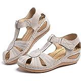 Sandali Donna Plateau Estivi Ciabatte Chiuse con Zeppa Vintage Pantofole alla Caviglia Comode Piattaforma Scarpe Tacco Mules