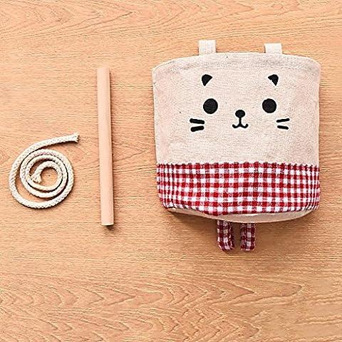 HTTMYY Sac De Rangement Suspendu Linge Durable Haute Capacité ImperméAble à L'Eau Cute Cartoon 13.5x15cm ,