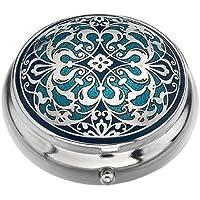 Pille Box (Standard Größe) in einem Arabesque Design in Blau Farbe preisvergleich bei billige-tabletten.eu
