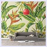 BHXINGMU Benutzerdefinierte Wandbild Tapeten Tropischen Pflanzen Nahtlose Wallpaper Wallpaper Wohnzimmer Schlafzimmer Hintergrundbild Wandbild 150 Cm (H) X 200 Cm (W)