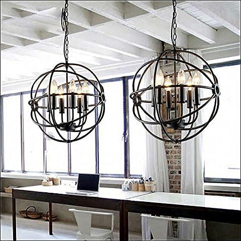 Chelier eleganti lampade in ferro retrò Orbs Cafe industriale negozi decorazione luce Luce cena