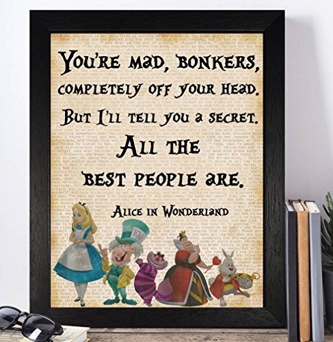 vintage-alice-in-wonderland-disney-quotes-unframed-print-poster-christmas-xmas-birthday-gifts-for-hi