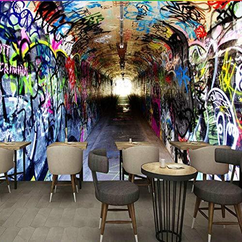 3d zeit tunneling kanal wallpaper für bar ktv restaurant hintergrund wandmalerei mural tapeten dekorieren, 300 × 210 cm