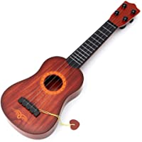 Jashgop 4-String Acoustic Guitar Learning Toy for Kids (Brown)