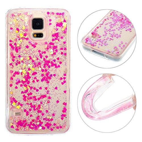 Galaxy SV I9600 Bling Handyhülle, Moon mood Galaxy S5 Neo Durchsichtige Handyhülle 3D Creative Case Kristallklaren Sparkly Silikon TPU Weich Back Handy