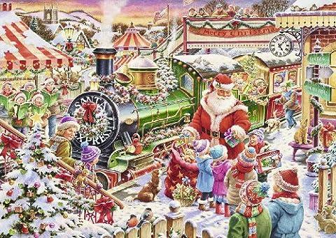 Ravensburger 19420 Weihnachtszug, 1000 Teile Puzzle