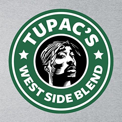 Tupacs West Side Blend Starbucks Logo Women's Sweatshirt Heather Grey
