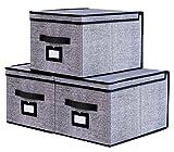 homyfort Set de 3 Cajas de Almacenaje Cubos de Tela