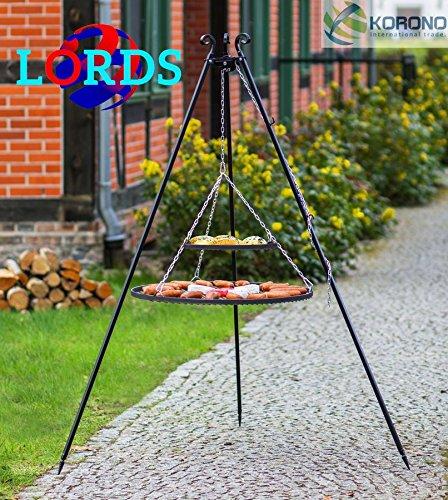 150Schwarz Stahl 70cm + Schwarz 40cm Grill auf Stative Rod 5mm/Rahmen 20x 4mm Hand Made Hochwertige Verarbeitung Made in Polen