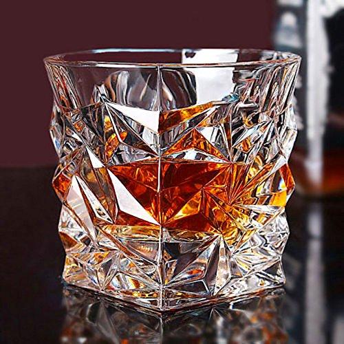 6 x 350 ml. WHISKYGLÄSER, BOHEMIA BLEIKRISTALL 24% Pb0, SERIE GLACIER, NEU & OVP - Tschechische Kristall Gläser