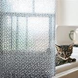 Eanshome Duschvorhang, wasserfest, schimmelresistent, PEVE, halbtransparent, verziert mit kleinen Punkten, PEVA, Little Dots, 47
