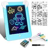 LAPPAZO Tableta de Dibujo Pizarra 3D Mágico con Luces LED Educativo Infantil Dibujo & Marco de Fotos Regalos Juguetes para Ni