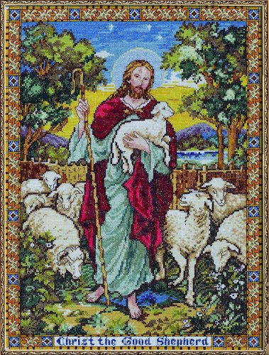 The Good Shepherd Counted Cross Stitch Kit-12